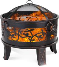 Utepeis i sort med bronsefargede detaljer - Ø 66cm
