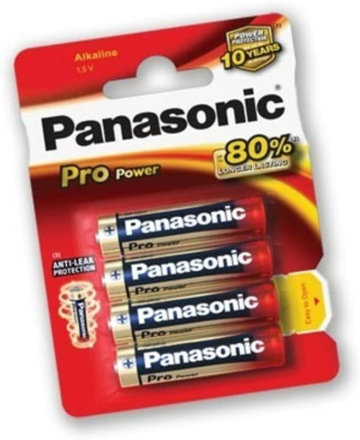 Panasonic Alkaline Battery AAA Pro Power Batteri OneSize