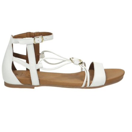 Sandale, weiß