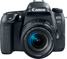 Canon EOS 77D SLR-Digitalkamera mit EF-S 18-55mm f/4-5.6 IS STM Objektiv Kit