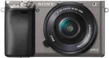 Sony Alpha A6000 met 16-50mm Wechselobjektiv Digitalkamera (PAL) - Graphitgrau (Englisch Version)
