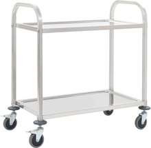 Kjøkkentralle 2 etasjer 87x45x83,5 cm rustfritt stål
