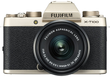 Fujifilm X-T100 Digitalkameras mit XC 15-45mm f/3.5-5.6 OIS PZ Objektiv - Champagner Gold (Internationale Ver.)