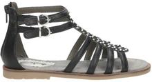 Sandale, schwarz - kombiniert