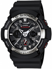 Casio G-SHOCK Standard Analog-Digitaluhr GA-200-1A - Schwarz