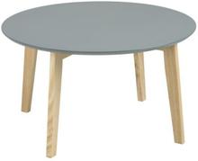 Couchtisch Eiche | Wohnzimmertisch Grau Ø80 cm - Nordic