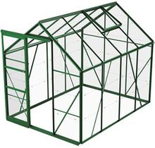 Växthus Bruka 5,0 m²-Grön-Glas-Nej