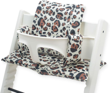 Jollein Grow-up Matstolsdyna leopard brun
