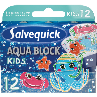 Salvequick Wasserfeste Kinder Pflaster 12 stk