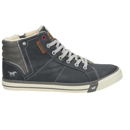 High Top Sneaker, dunkelblau