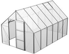 Växthus Bruka 9,9 m²-Aluminium-Kanalplast-Nej