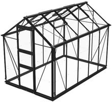 Växthus Odla 6,0 m²-Svart-Glas