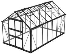 Växthus Odla 11,4 m²-Svart-Säkerhetsglas