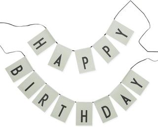 Design Letters - Design Letters Happy Birthday Flaggor, Grønn