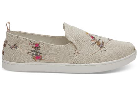 TOMS Damen Schuhe Disney X Taupe Gus & Jaq Deconstructed Alpargatas - Größe 43.5