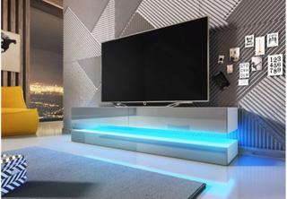 Tv-bord FLY - 140cm hengende på vegg - grå