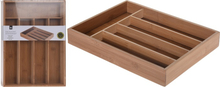 Excellent Houseware Cutlery tray Bamboo 35x26x5 cm