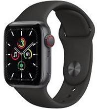 Apple Watch Series SE GPS+4G 40mm Sølv Sport Band Sort