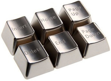 Metal Function Block Set Keycaps - Silver