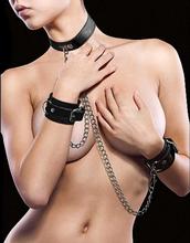 Leather Collar & Handcuffs