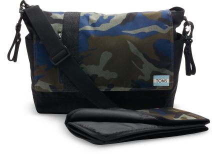 TOMS Grün Herringbone Babytasche Mit Camouflagemuster