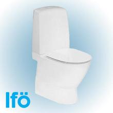 Ifö Spira Art toalett uten skyllekant m/skjult S-lås & ifö clean, hvit