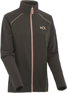 Kari Traa Kari Full Zip Fleece Dame mellanlager tröjor Sort M
