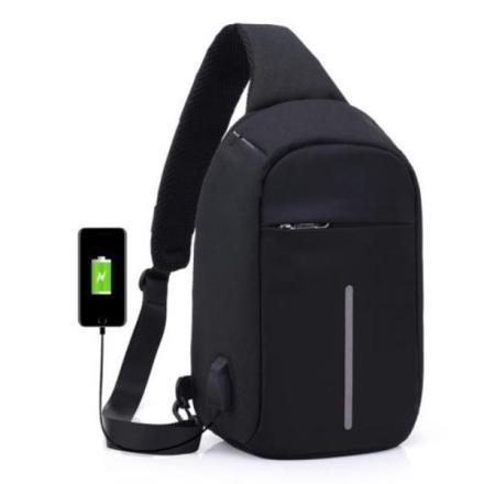 Tyversikker ryggsekk skulderbag - Svart