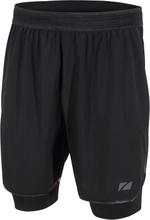 Zone3 Men's Compression 2-in-1 Shorts Black/Gun metal