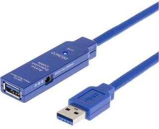 USB 3.0 förlängningskabel 5 m aktiv Typ A hane-hona svart