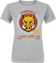 Buffy - The Vampire Slayer - Sunnydale High -T-skjorte - lynggrå