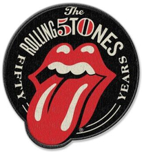 The Rolling Stones: Standard Patch/50th Anniversary (Iron On)