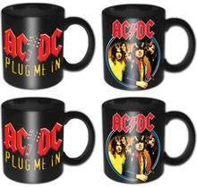 AC/DC: 4 Piece Mini Mug Set/Devil Angus & Plug Me In (Individually Boxed)