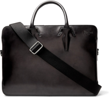 Profil Leather Briefcase - Black