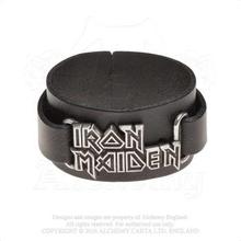 Iron Maiden: Leather Wrist Strap/Logo