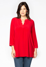 Tunic wavy placket DOLCE 54/56 (54/56) red (260)