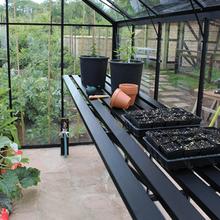 Passar till växthus Odla Växthushylla 186 cm 186 cm, Svart