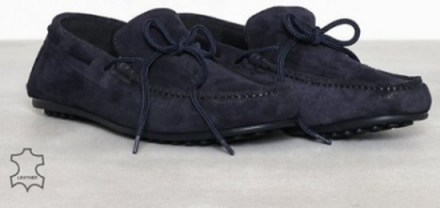 Selected Homme Slhsergio Drive Suede Shoe W Loafers & slippers Mörk Blå