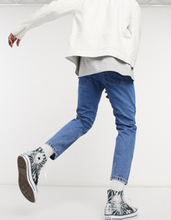 Reclaimed Vintage inspired The '89 tapered jean in vintage blue wash