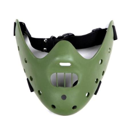 Real Hannibal Lecter maske - Grønn