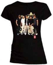 One Direction: Ladies Tee/Flowers (Skinny Fit) (Medium)