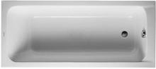Duravit D-Code Komplet Badekar m/Rygglene, t/Innbygning 160x70 cm (avløp i fotenden)
