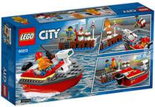 60213 City Fire, Eldsvåda i hamnen