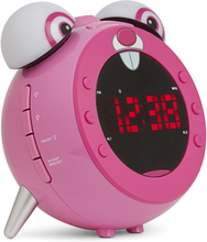 Nikkei projektionsur til børn med FM-radio NR280PRABBIT lyserød