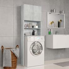vidaXL vaskemaskineskab 64 x 25,5 x 190 cm spånplade betongrå