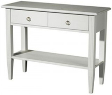 STOCKHOLM WHITEWASH CONSOLE TABLE2 DRAWERS 94W x 36D x 72H
