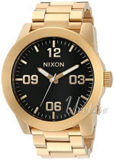 Nixon A346510-00 The Corporal Sort/Gul guldtonet stål Ø48 mm