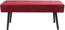 Marcus velour bänk - Röd