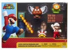 Super Mario 2.5 Inch Diorama Set Lava Castle