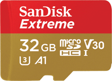 SanDisk 32GB 100MB/s Extreme UHS-I microSDHC Speicherkarten - SDSQXAF-032G